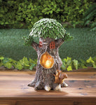 Solar Playful Squirrels Treehouse - Shop For Decor