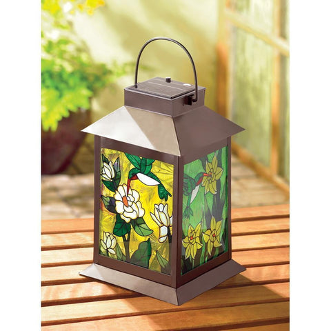 Solar Powered Floral Lantern - Shop For Decor