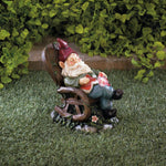 Solar Red Bird Rocking Chair Gnome - Shop For Decor