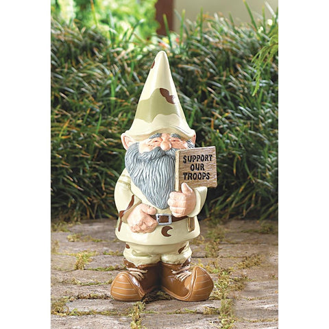 Support Our Troops Gnome - Shop For Decor