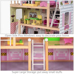 Cottage Wooden Doll house with Furniture Playset for Children - Shop For Decor