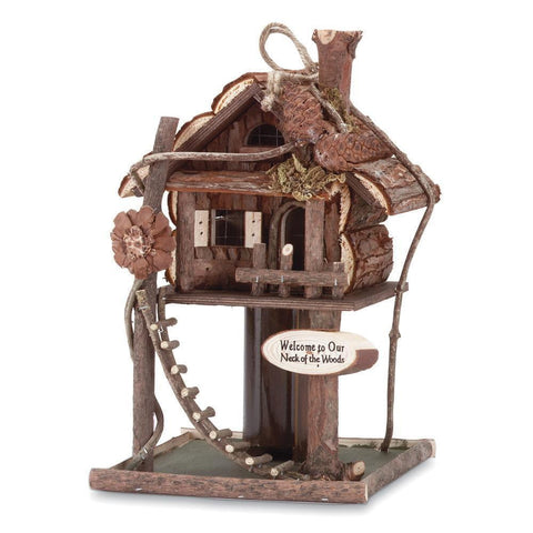 Tree House Bird House Feeder - Shop For Decor