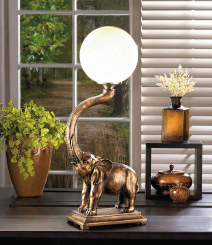 Trumpeting Elephant Globe Lamp - Shop For Decor