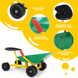 "8"" Heavy Duty Kids Ride-on Sand Dumper with 4 Wheels - Green or Red - Shop For Decor"