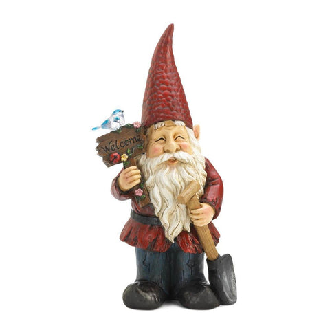 Welcome Gnome Solar Garden Decoration - Shop For Decor