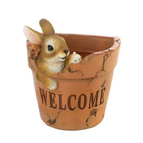 Welcoming Bunny Planter - Shop For Decor