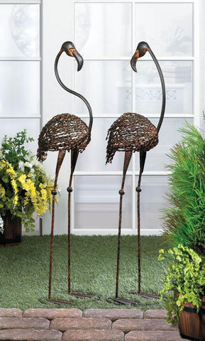 Wild Flamingo Garden Stakes Duo - Shop For Decor