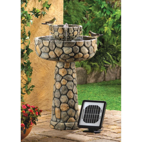 Wishing Well Solar Water Fountain - Shop For Decor