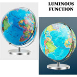 "13"" Illuminated World Globe 720° Rotating Map with LED Light - Shop For Decor"
