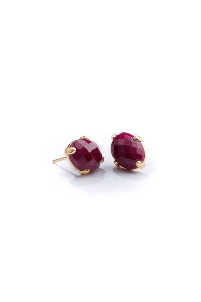 Ruby Gold Studs by Cathy Pope