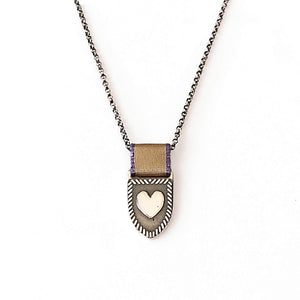 Heart Shield Necklace