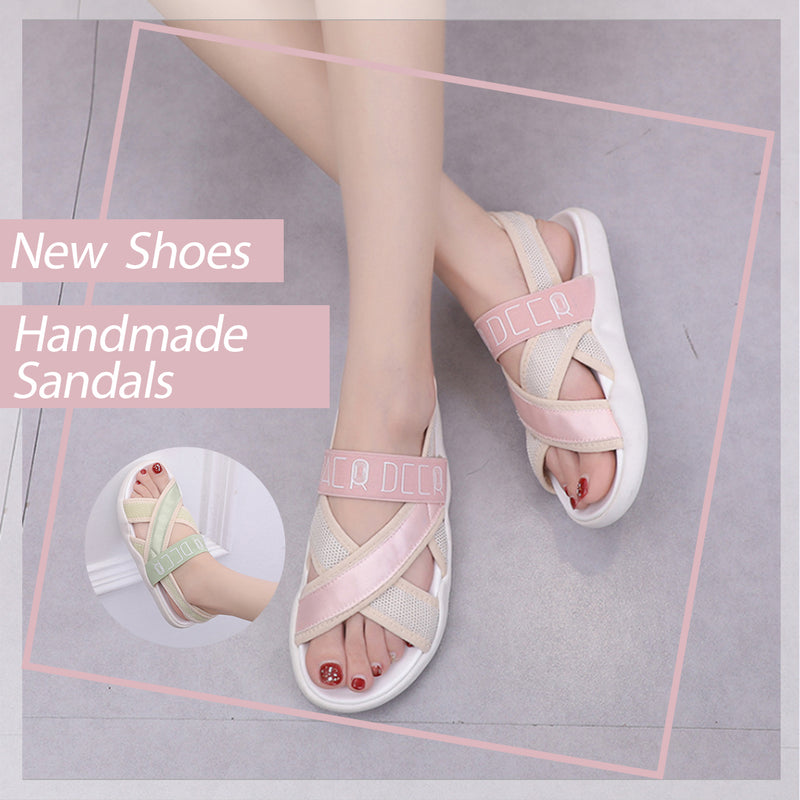 Mvstu™ Peep Toe Comfortable Sport Casual Flat Sandals