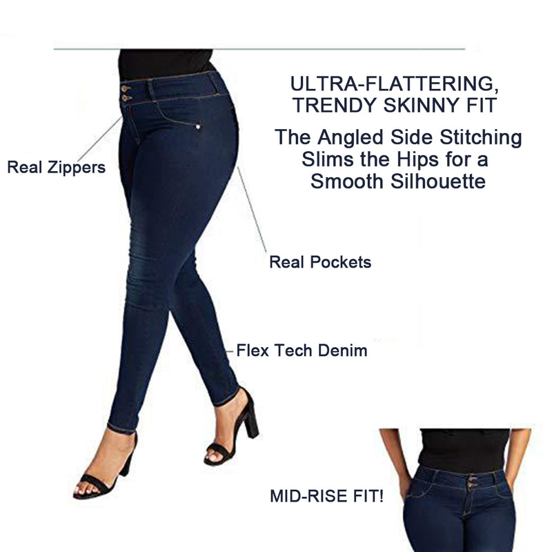 Mvstu ™ High Waist Stretch Denim Pants