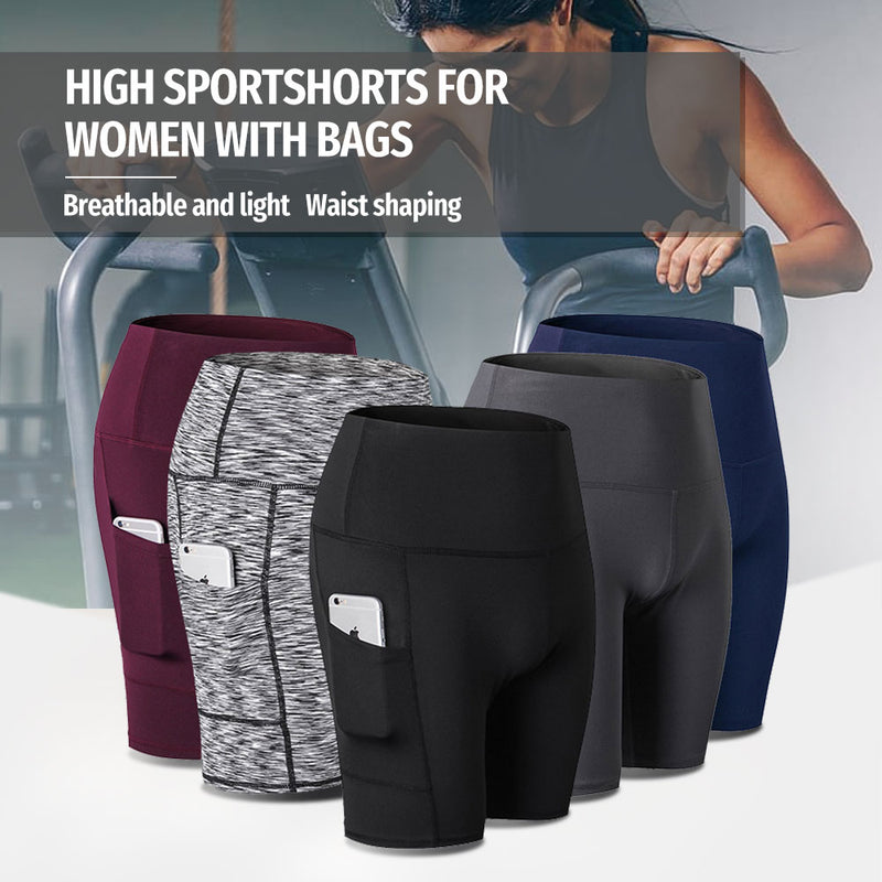 Mvstu ™ High Waist Workout Running Yoga Shorts