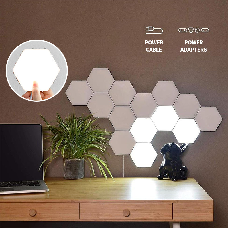 Mvstu ™ Hexagonal Wall Lamp Creative Geometry Assembly