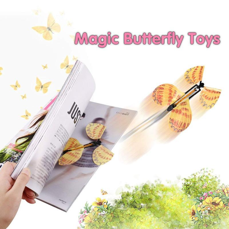 MVSTU™ Creative Magic Props Children's Toys Flying Butterflies