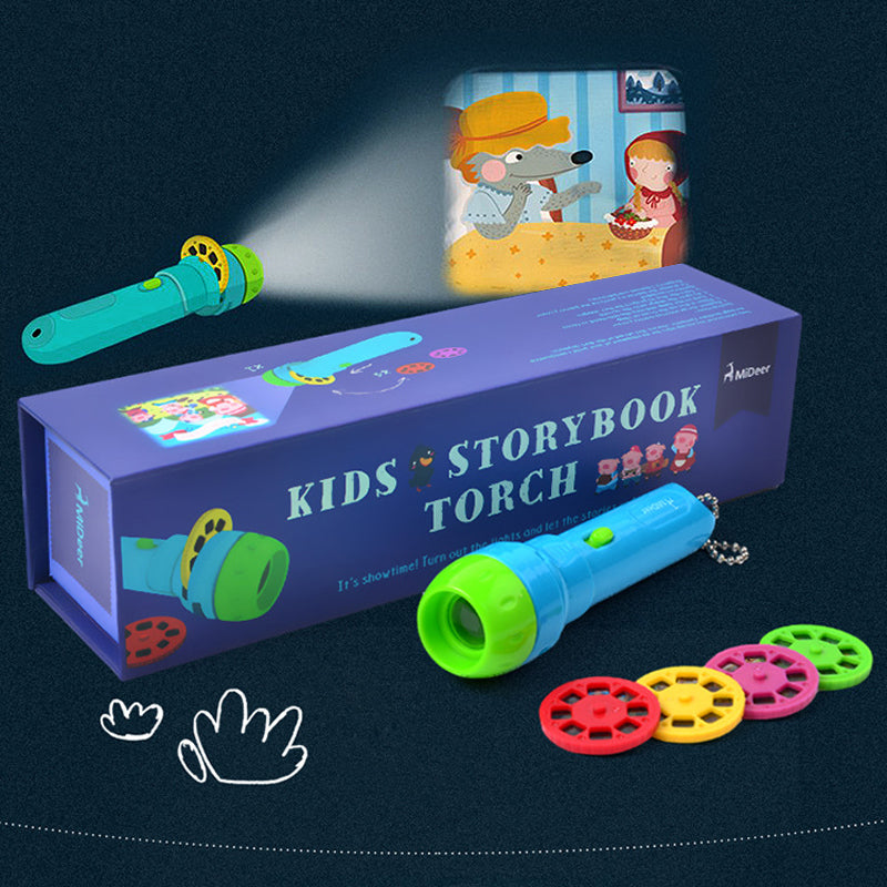 Mvstu ™ Kids Story Time Flashlight Projector