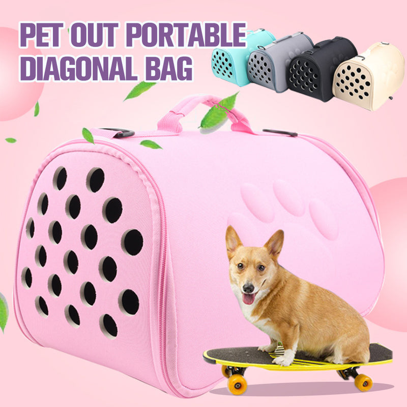 Pet out portable diagonal cross-breathable space bag