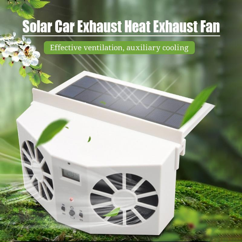 Mvstu ™ Solar Car Exhaust Heat Exhaust Fan