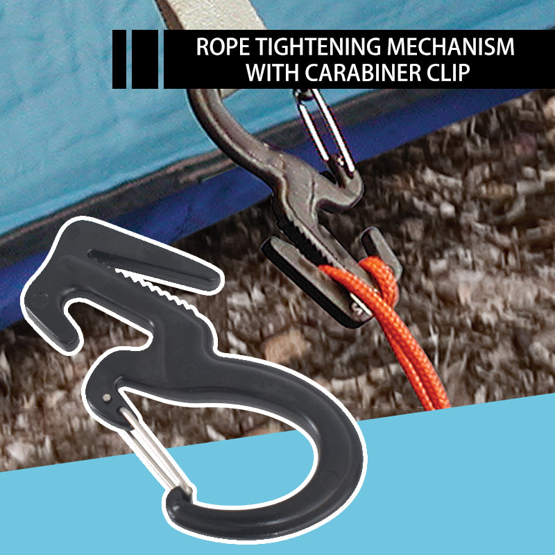 Rope Tightening Mechanism With Carabiner Clip