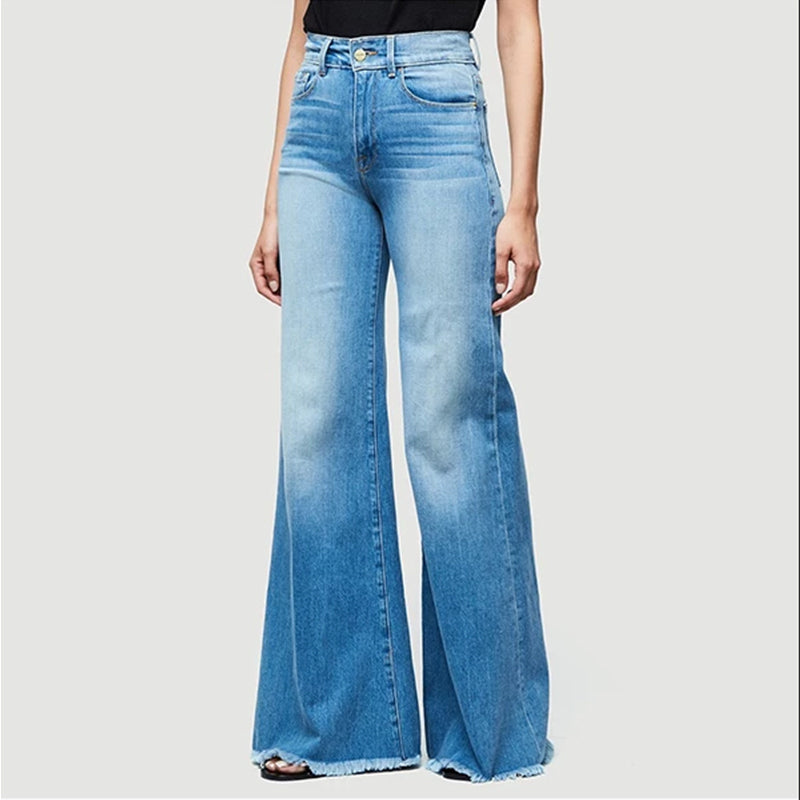 Mvstu ™ 70s Plus Size Bell Bottom Jeans