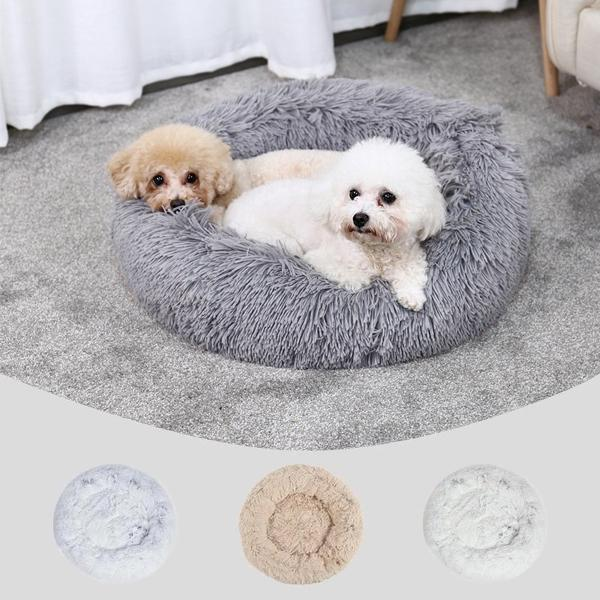 Cozy round pet bed