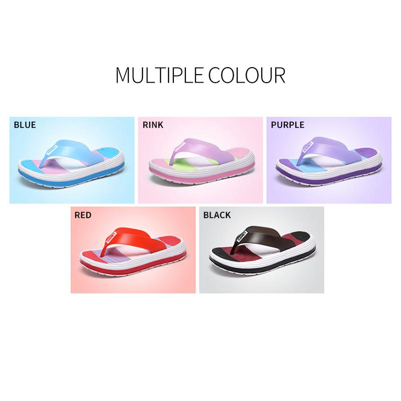 Women Soft Rainbow Flip-Flops Slippers