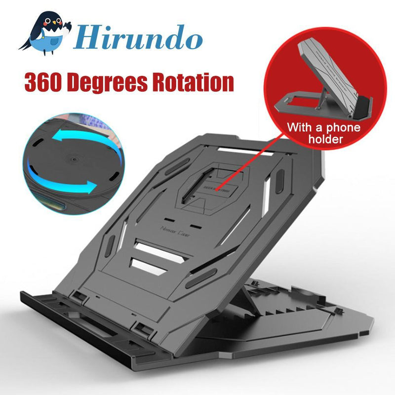 Hirundo Laptop Stand With Turntable