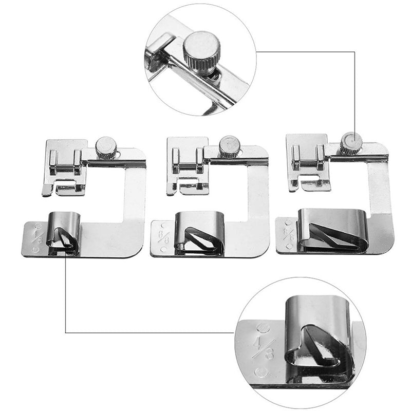 Mvstu ™ Sewing Machine Presser Foot Hemmer