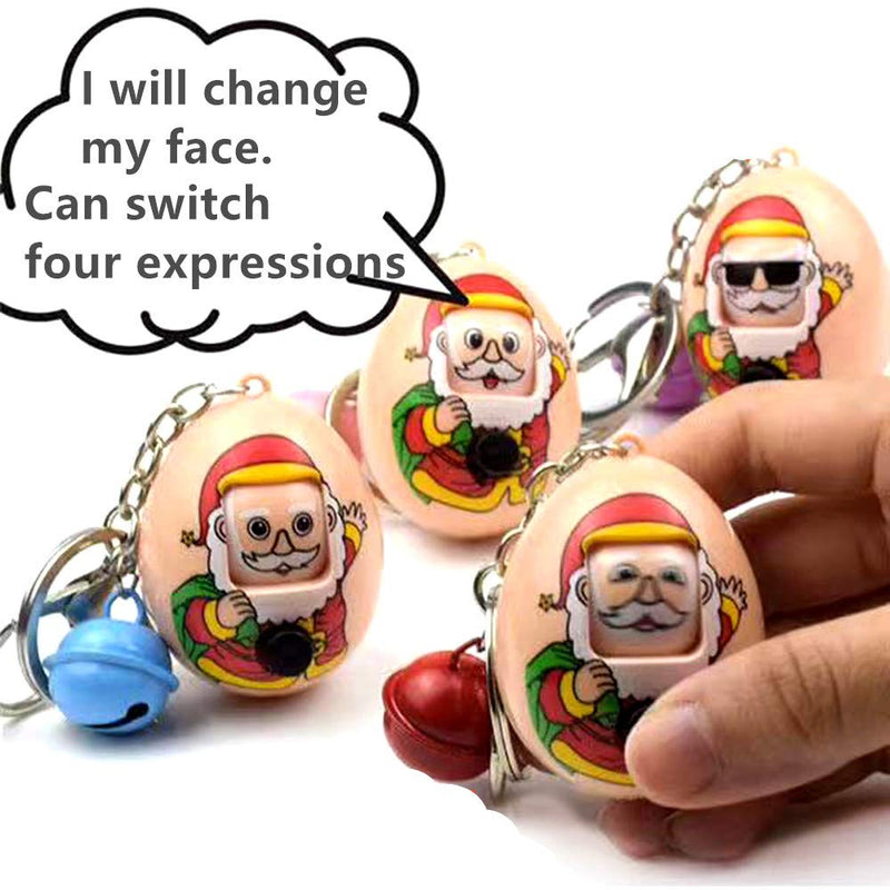 Santa Claus Expression Eggs Keychains