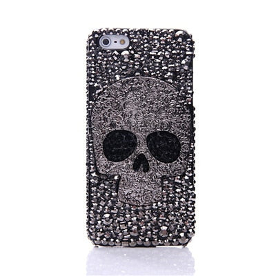 Image of 3D Skull Skeleton Blue Eyes Bling Cases for Samsung Galaxy S10e S10 Plus S10 S9 S8 Plus Note 9 8 iPhone XS MAX XR XS X