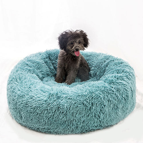 Green Marshmallow Donut Cuddler Cat & Dog Super Soft Plush Bed (XS to XXL)