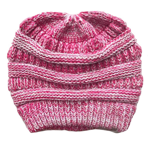 Image of Knit Hat / Ponytail Beanie / Winter Cap For Women Crochet.  Stylish, Comfortable and Warm In Many Colors - ShopInTheNude.com