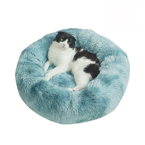 Fast USA Shipping Marshmallow Donut Cuddler Cat & Dog Super Soft Plush Furry Heavenly Bed XS-XXL