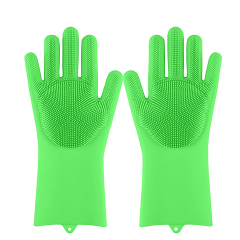 Image of Magic Silicone Dish Washing Scrubber Gloves (SALE) Kitchen, Pet, Carpet, Bath, Car