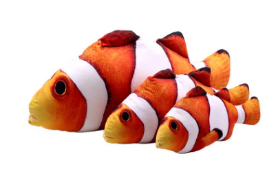 Image of 3D Cat Catnip Stuffed Toy Fish Pillow (Various Size and Assorted Fish)