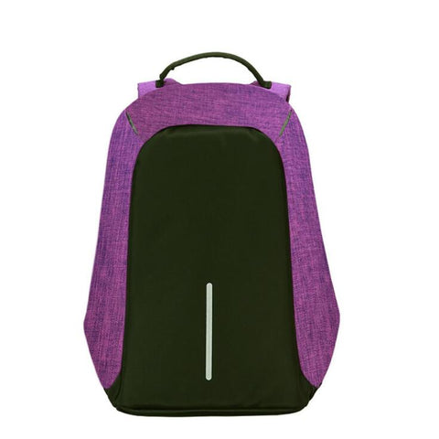 Image of Anti Theft Laptop Backpack With USB Charging Purple