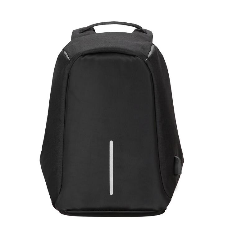 Anti Theft Laptop Backpack With USB Charging Black