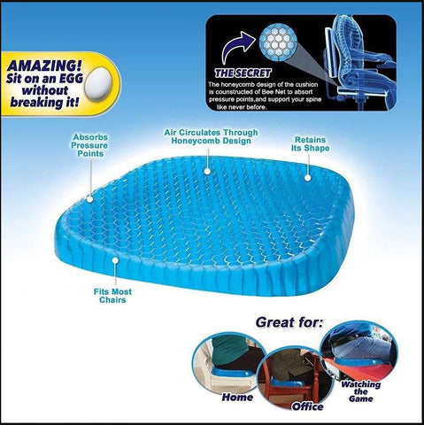 Honeycomb Flexible Orthopedic Gel Cushion (NEW Size Double Extra Large, XXL, 2XL)