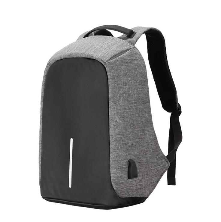Anti Theft Laptop Backpack With USB Charging Grey Gray