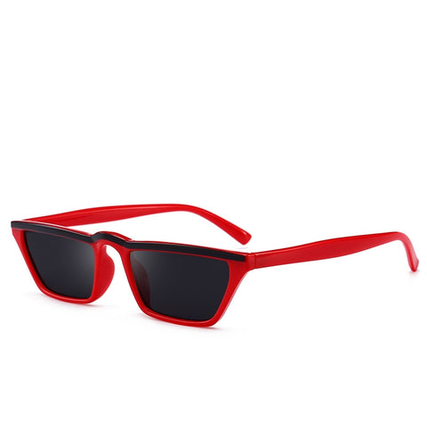 Image of Colored Flat-Top Classic Frame Sunglasses UV400