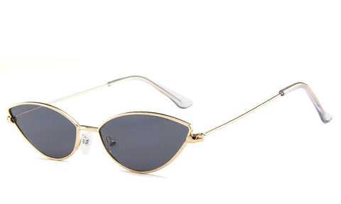 Image of Metal Small Colorful Almond / CatEye Sunglasses UV400