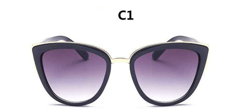 Image of Round Cat Eye Gradient Tint Sunglasses UV400