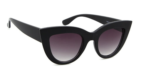 Cat Eye Thick Frame Assorted Colors Sunglasses UV400