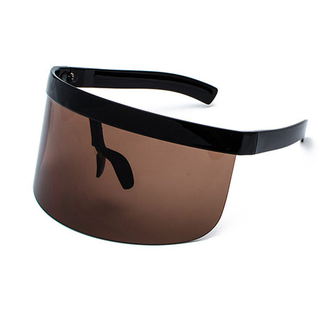 Image of Big Frame Shield Visor Sunglasses Oversized Eyewear UV400 (Protects Nose)