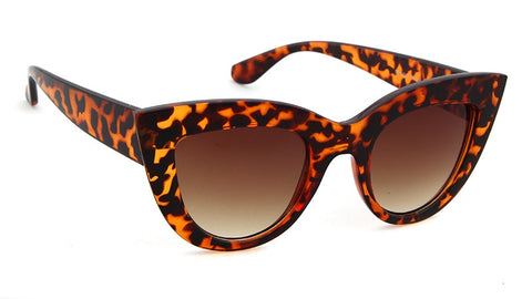 Image of Cat Eye Thick Frame Assorted Colors Sunglasses UV400