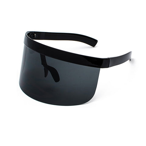 Big Frame Shield Visor Sunglasses Oversized Eyewear UV400 (Protects Nose)