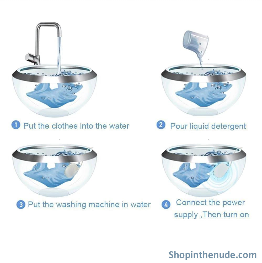 Mini Portable Ultrasonic USB Washing Machine For Clothing, Fruits & Vegetables, Jewelry... - ShopInTheNude.com