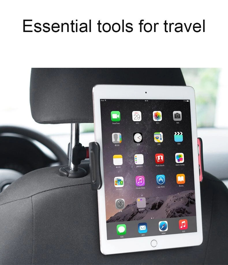 Car Backseat Phone / iPad / Tablet Holder 360 Degree Auto Headrest Bracket Support