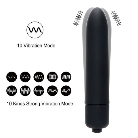 7 Colors 10 Speed Mini Bullet Waterproof Vibrator - ShopInTheNude.com